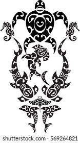 Maori tattoo set. Idea for tattoo