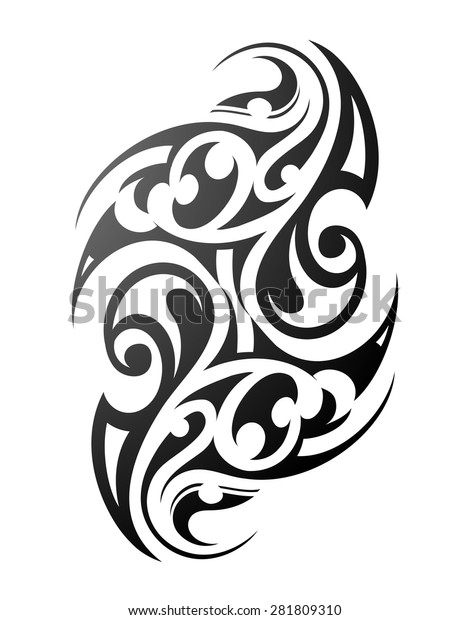 Maori Tribal Tattoo Design Ethnic Ornament Stock Vector Royalty