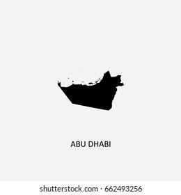Map of Abu Dhabi - United Arab Emirates Vector Illustration