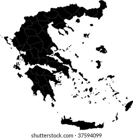 Map of administrative divisions of Greece