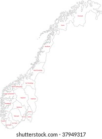 Map of administrative divisions of Norway
