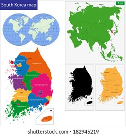 Map of administrative divisions of South Korea