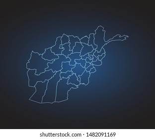 Map of Afghanistan - Abstract mash line and point scales on circuit dark background. symbol for your web site design map logo, app, ui,Travel. Vector illustration eps 10.