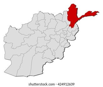 Map - Afghanistan, Badakhshan