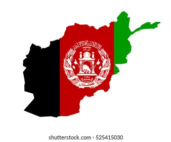 map of Afghanistan country on white background. Vector Illustration