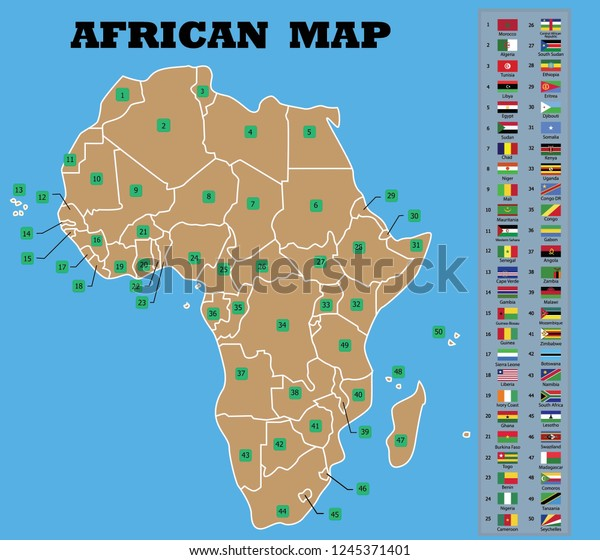 Map Of Africa Bodies Of Water.Map Of Africa Countries Map Of Africa With Physical Features Map