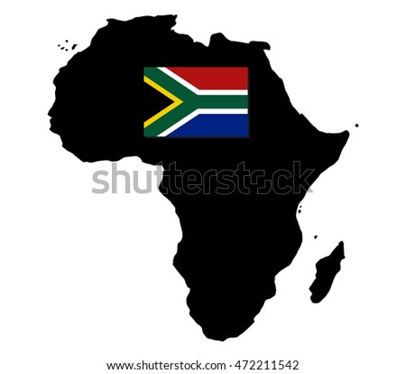 Flag Map Of Africa.Map Africa Flag Stock Vector Royalty Free 472211542 Shutterstock