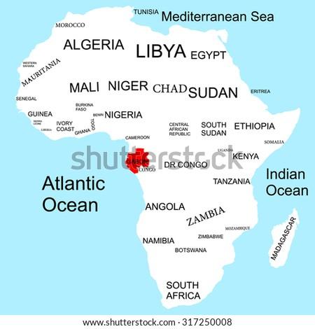 Map Africa Gabon Stock Vector Royalty Free 317250008 Shutterstock