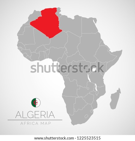 Map Africa Identication Algeria Map Algeria Stock Vector Royalty
