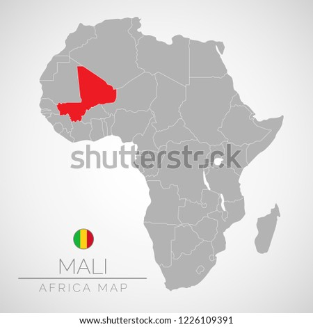 Map Africa Identication Mali Map Mali Stock Vector (Royalty Free ...