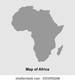 Map of Africa isolated vector illustration