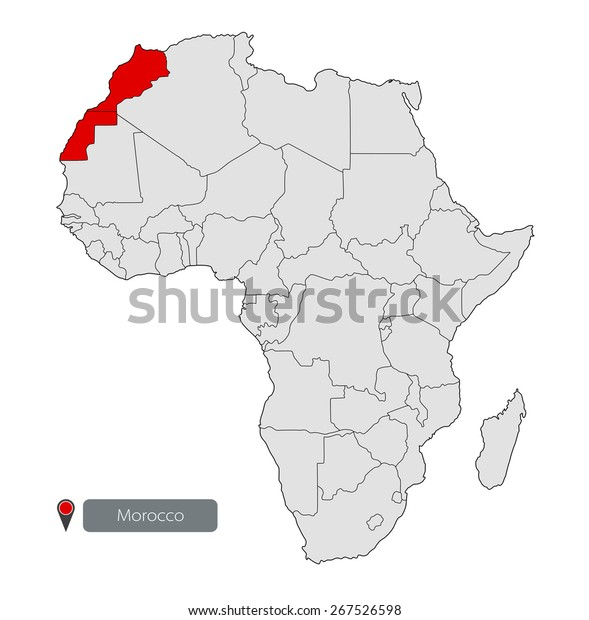 Morocco Map Of Africa.Map Africa Kingdom Morocco Stock Vector Royalty Free 267526598