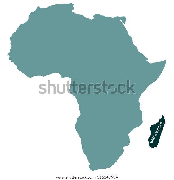 Map Of Africa Madagascar.Map Africa Madagascar Stock Vector Royalty Free 315547994