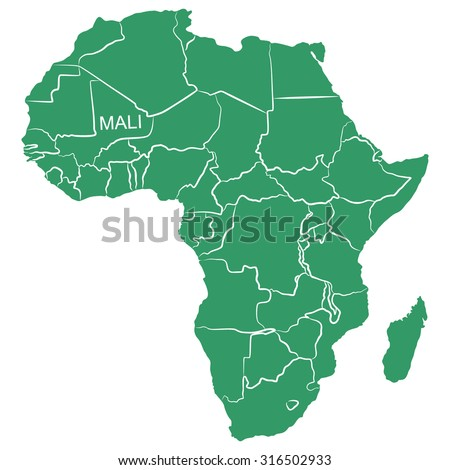 Map Africa Mali Stock Vector Royalty Free 316502933 Shutterstock