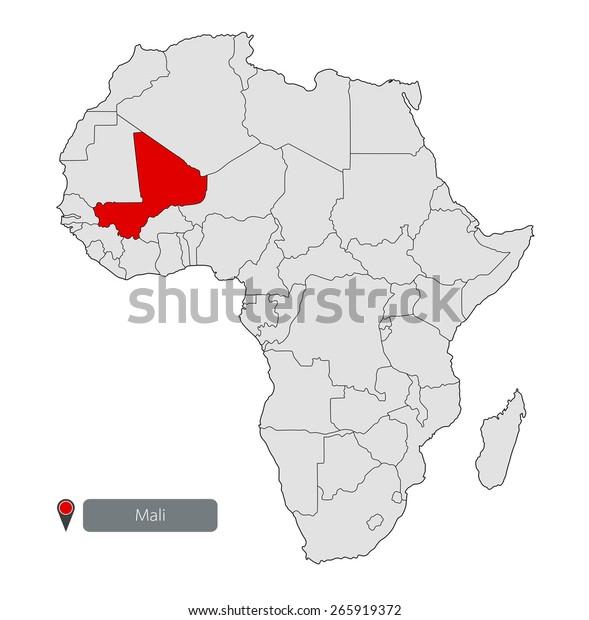 Map Of Africa Mali