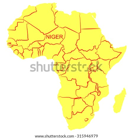 Map Africa Niger Stock Vector Royalty Free 315946979 Shutterstock