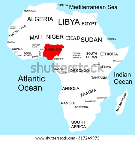 Map Africa Nigeria Stock Vector Royalty Free 317249975 Shutterstock