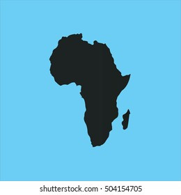 map of africa on blue sky background