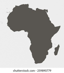 Map of Africa on gray background
