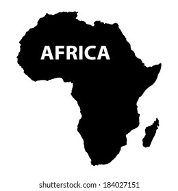 map of Africa on white background