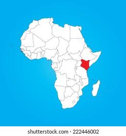 World Map Kenya Images Stock Photos Vectors Shutterstock