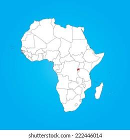 Rwanda Map Images Stock Photos Vectors Shutterstock