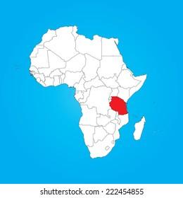 Map Of Africa Tanzania.Tanzania Map Images Stock Photos Vectors Shutterstock