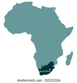 Map of Africa, South Africa