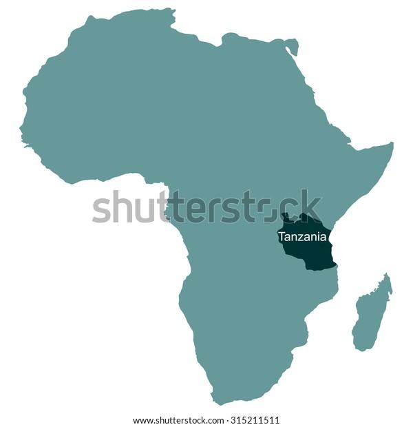 Map Of Africa Tanzania.Map Africa Tanzania Stock Vector Royalty Free 315211511