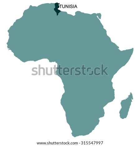 Map Africa Tunisia Stock Vector (Royalty Free) 315547997 - Shutterstock