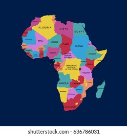 Map of Africa. vector illustration.