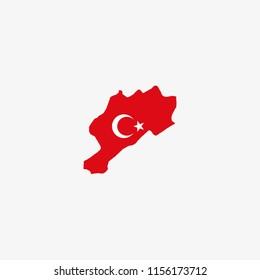 Map of Afyonkarahisar - Turkey Vector Illustration