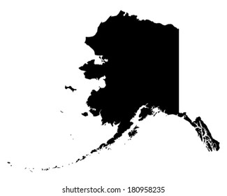 Alaska Map Images Stock Photos Vectors Shutterstock