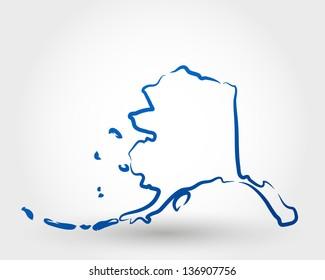 map of alaska. map concept