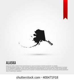 Map of Alaska state icon vector. Map of Alaska state icon JPEG. Vector illustration design element. Flat style design icon.