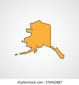Map of Alaska. Vector