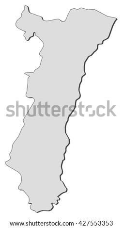 Map Alsace France Stock Vector Royalty Free 427553353 Shutterstock