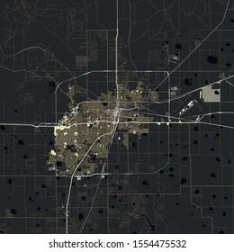 Map Amarillo city. Texas. USA