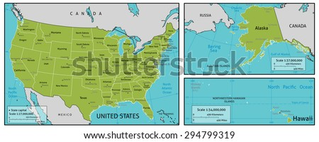 Map America State Names Capitals Other Stock Vector (Royalty Free ...