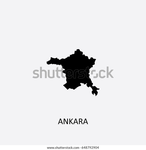 Map Ankara Turkey Vector Illustration Stock Vector (Royalty Free ...