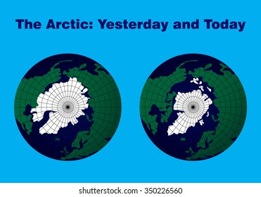 "map of the Arctic ""yesterday and today"""
