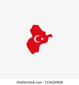 Map of Ardahan - Turkey Vector Illustration