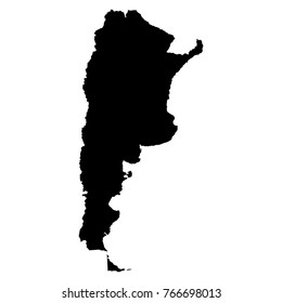 Map of Argentina on a white background, Vector illustration