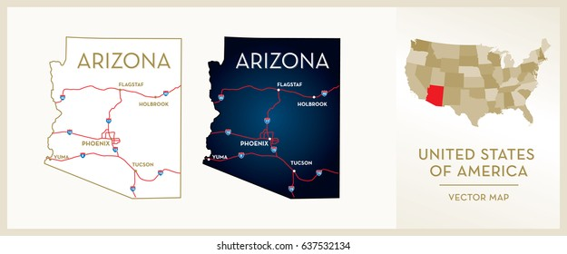 Arizona On A Map Of Usa.Arizona Map Images Stock Photos Vectors Shutterstock