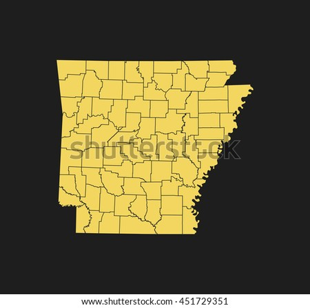 Arkansas World Map.Map Arkansas Stock Vector Royalty Free 451729351 Shutterstock