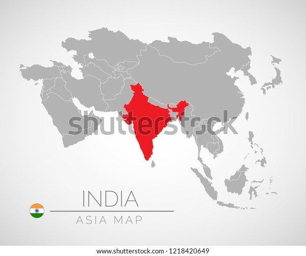 Map Of Asia India.Map Asia Identication India Map India Stock Vector Royalty Free
