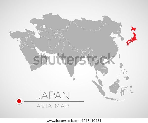 Map Of Asia And Japan.Map Asia Identication Japan Map Japan Stock Vector Royalty Free