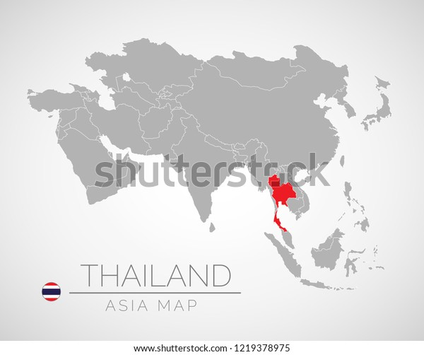 Map Asia Identication Thailand Map South Stock Vector ...