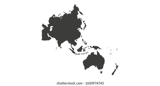 Map of Asia Pacific. - Vector illustration