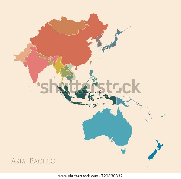 Map Asia Pacific Vintage Color Stock Vector (Royalty Free ... Color Map Of Asia on beijing map asia, color map south america, color map australia, color us map, world clock asia, pyramids of asia, color europe map, north asia, color map united states, shape of asia, compass of asia, color map africa, world map asia, citytime zone map asia, educational maps of asia, coloring pages of animals in asia, color map egypt,